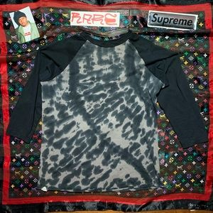 ALTAMONT Tie Dye Black Raglan vintage y2k shirt